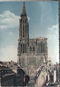 La Cathedrale de Strasbourg, 1956 used Postcard