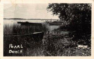 LPM36 Coldwater Pearl Beach  Michigan RPPC Postcard
