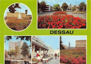 Dessau Haus des Reisens, Cafe Africana Blick zum Rathaus Bauhaus Hochhaus