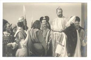 RP  Passionsspiel Oberammergau 1910, Jesus vor Pilatus, Germany
