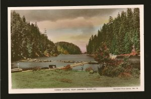 Canada Forbes Landing Campbell River BC Spalding Color Postcard