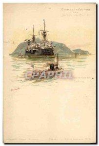 Old Postcard Boat War Devastation The Breastplate Wing