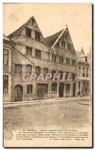 Postcard Old House Near Tournai Romanesque Tower St Brice