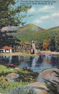 New Hampshire White Mountains Overshot Water Wheel On Shadow Lake Indian Head...