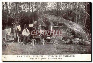 Old Postcard Life On The Front L & # 39Atelier Tailor From Army