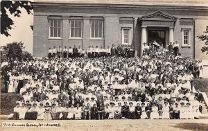<A16> OHIO Oh Postcard Real Photo RPPC 1907 ATHENS Summer School Students 2