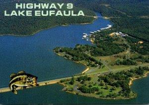 Oklahoma Lake Eufaula Highway 9 Bridge and Swimming Beach