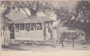Matamoros y Santa-Cruz Donkey Drawn Trolly Car , Mexico , PU-1906