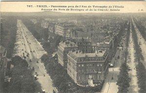 1911 Panoramic Street View, Paris, France Carte Postale Postcard