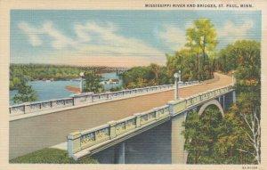 ST. PAUL, Minnesota, 30-40s; Mississippi River and Bridges