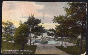 Nova Scotia YARMOUTH A Glimpse in Park MacFarlane Private PC pm1911 Divided Back