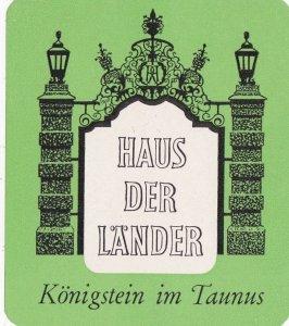 Germany Koenigstein Im Taunus Haus Der Laender Vintage Luggage Label sk2654