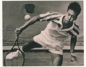 Michael Chang Serving Volley American USA Tennis Champion Rare Postcard