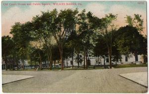 1907 Wilkes-Barre PA Old Courthouse and Public Square Luzerne Old DB Postcard