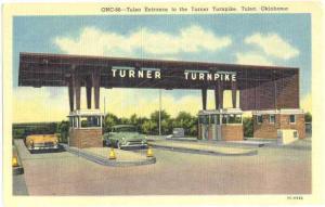 Tulsa Entrance to Turner Turnpike, Tulsa, Oklahoma, OK, Linen
