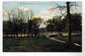Illinois Goverment Island    OLD Stone Bridge