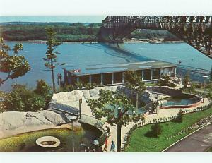 Quebec Canada Aquarium Sea Lion Pools quebec Bridge St Laweranc  Postcard # 5873