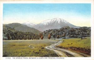 USA Colorado The Spanish Peaks between La Junta and Trinidad