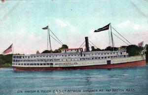 StR Ransom B Fuller ESSCo Between Boston MA Ship Vintage Divided Back Post Card