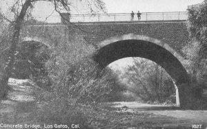 Concrete Bridge, Los Gatos, Santa Clara Co., California c1910s Vintage Postcard