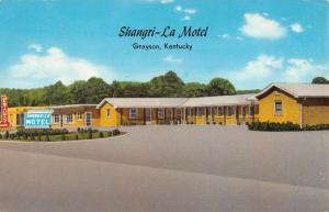 Grayson Kentucky Sangri La Motel Street View Vintage Postcard K98175