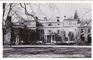 New York Hyde Park Front View Of The Roosevelt Home Franklin D Roosevelt Nati...