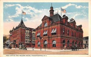 Post Office & Nelson House Poughkeepsie, New York Postcard