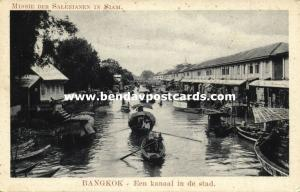 siam thailand, BANGKOK, Canal in the City (1920s) Mission