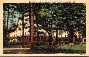 New York Sacandaga The Adirondack Inn Curteich