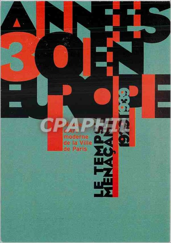 Postcard Modern Museum of Modern Art of the City of Paris Times menacants 192...