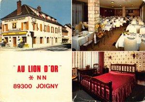 France Au Lion d'Or Bar Hotel Restaurant Joigny Postcard