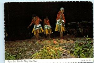 Fijian Beqa Islanders Fire Dancing Fiji Fire Dance Vintage 4x6 Postcard E16