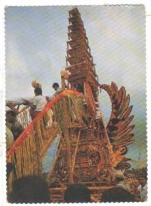 The remains of the deseased being ascended to the tower called Bade, Bali, ...