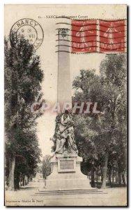 Old Postcard Nancy Monument Carnot