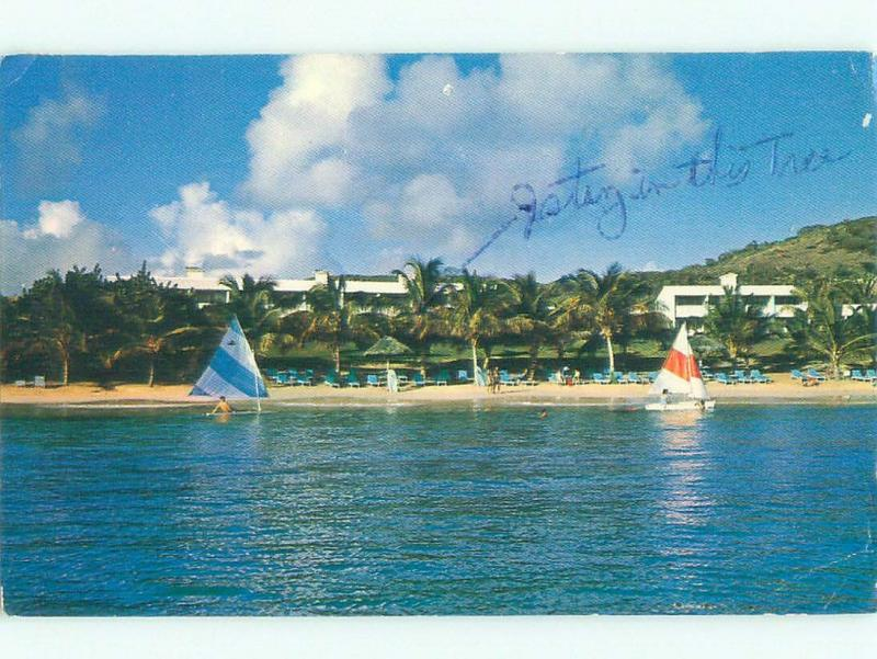 Pre-1980 NICE VIEW Half Moon Bay In Freetown Antigua i4254