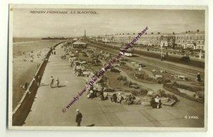 tp1634 - Rockery Promenade , Blackpool , Lancashire - postcard