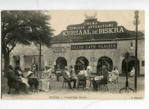 251514 ALGERIA BISKRA CINEMA Grand cafe GLACIER Vintage PC
