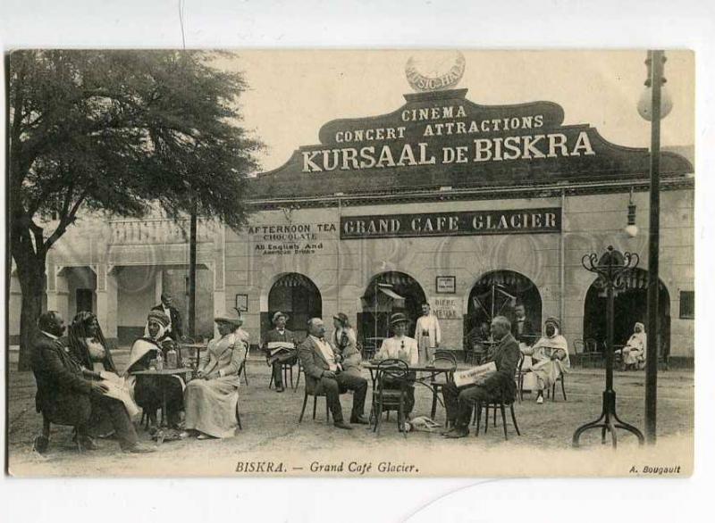251514 ALGERIA BISKRA CINEMA Grand cafe GLACIER Vintage PC