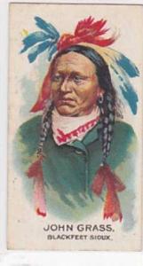 B A T Vintage Cigarette Card Indian Chiefs No 13 John Grass Blackfeet Sioux T...