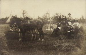 Ingallston MI Farming Farmers Apparatus 1909 Real Photo Postcard