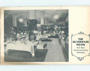 Pre-1952 WOODWARD & LOTHROP DEPARTMENT STORE Washington DC hk5281
