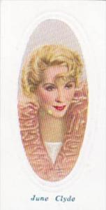 Phillips Embossed Cigarette Card Screen Stars No 32 June Clyde