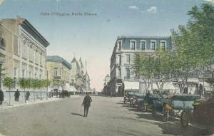 argentina, BAHIA BLANCA, Calle O'Higgins, Cars (1910s)