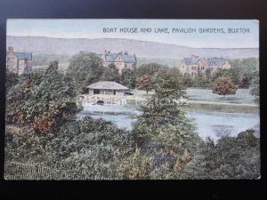 Derbyshire: Buston, Boat House & Lake, Pavilion Gardens - Old PC by H.Headington