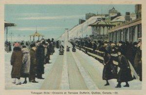 DUFFERIN TERRACE, Quebec, Canada, 1930s; Tobaggan Slide