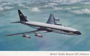 Airplane in Flight, BOAC Rolls-Royce 707 Jetliner, 50-70's