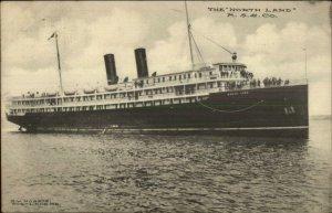 Steamship NORTH LAND - MSS Co Used Portland ME 1910 Postcard