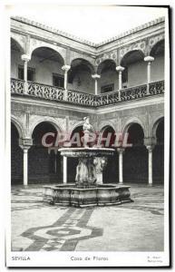 Old Postcard Sevilla Casa De Pilatos
