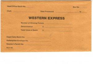 Western Express Ticket Envelope