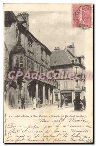 Old Postcard Luxeuil les Bains Rue Carnot Maison du Cardinal Jouffroy
